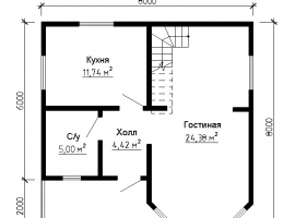 Проект дома №136