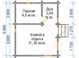 Проект бани-58