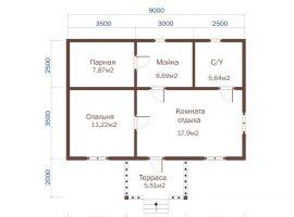 Проект бани-147